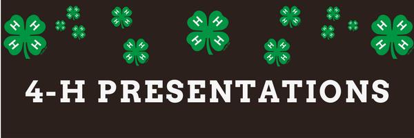 4-H presentations banner