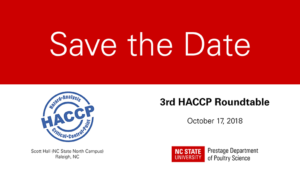 HACCP Roundtable save the date card