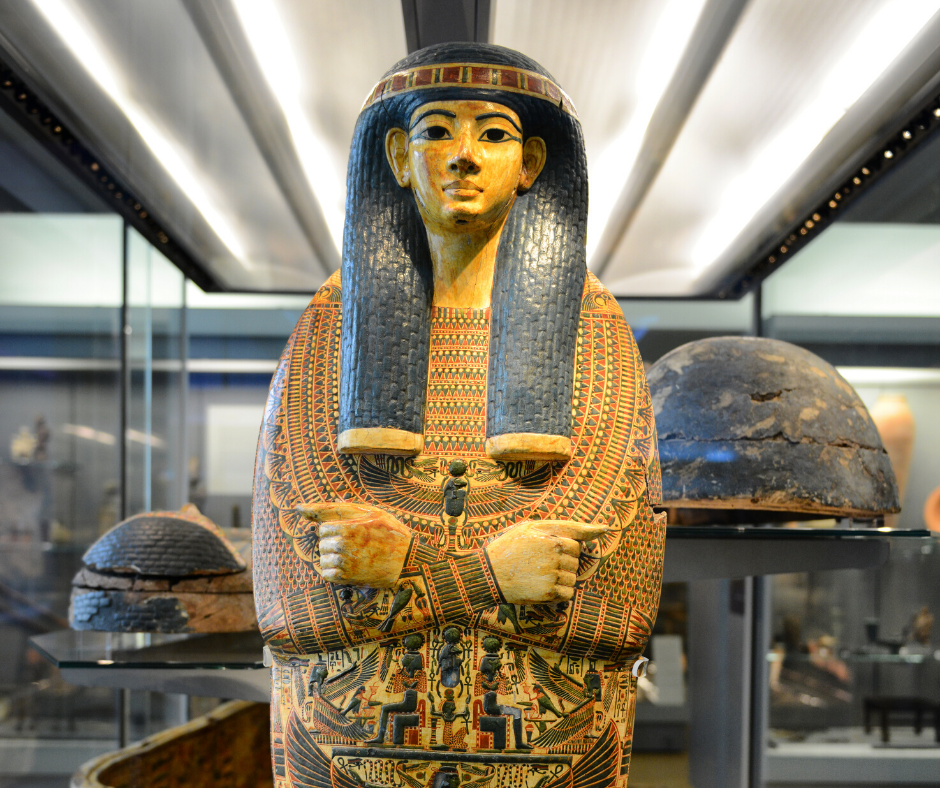 Sarcophagus of Egyptian Female Mummy