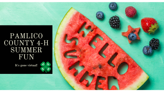 Summer Fun's Gone Virtual: Picture of a Watermelon with Hello Summer Cut Out