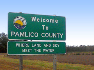Welcome to Pamlico County sign