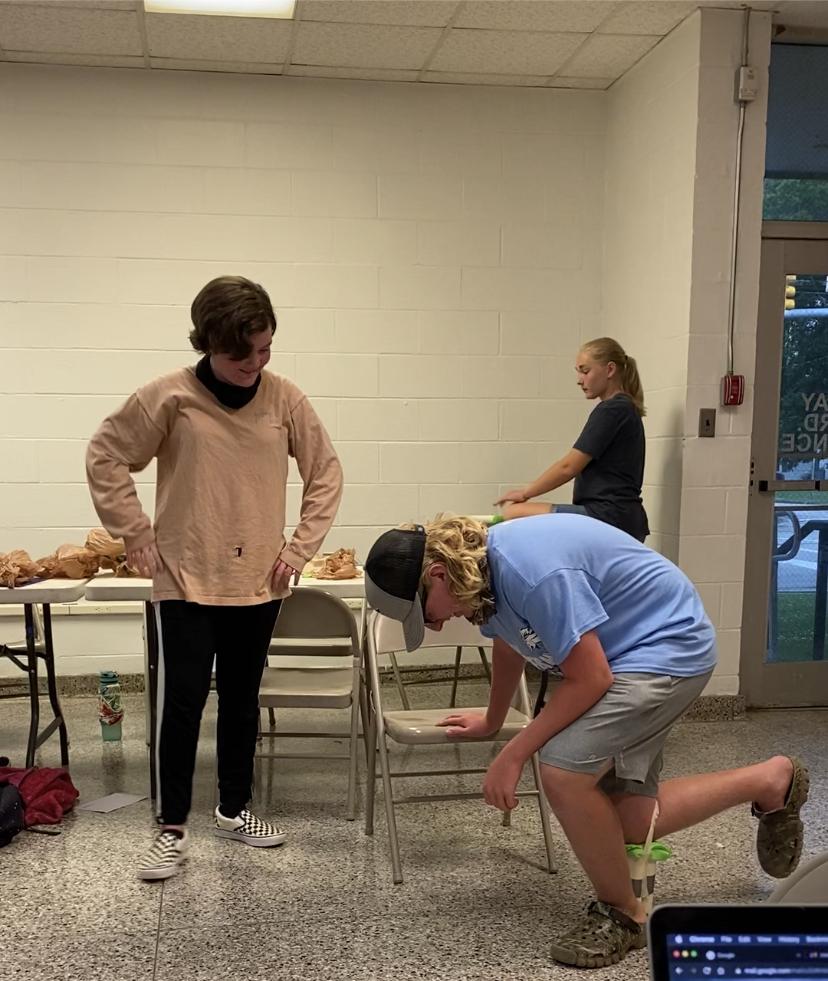 Testing a elephant leg Prosthetic