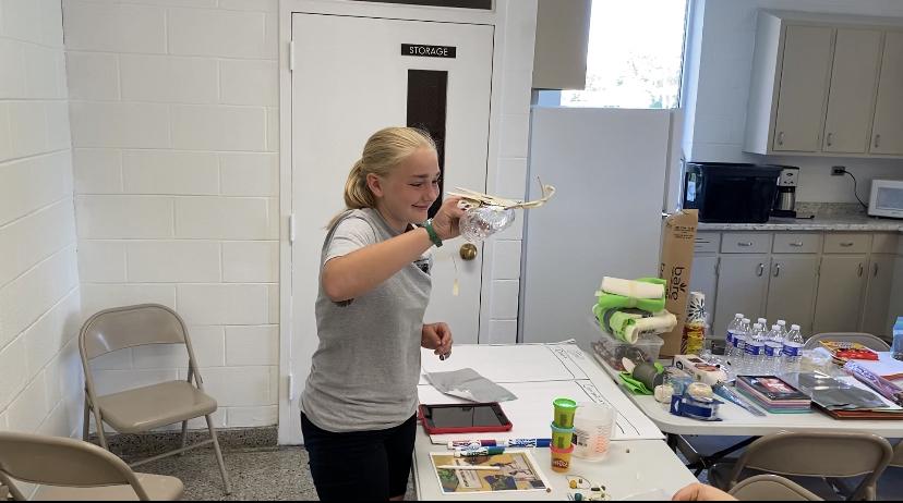 Testing a prosthetic eagle beak